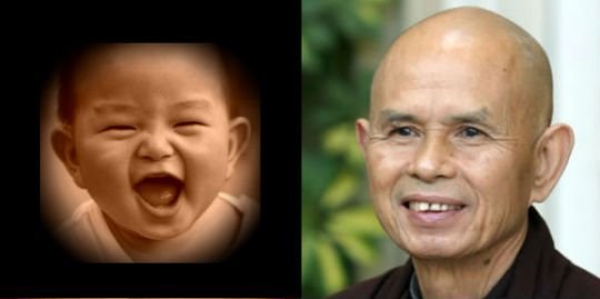 Thich Nhat Hanh and Baby Smile