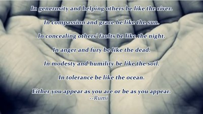 Seven Pieces of Advice from Rumi