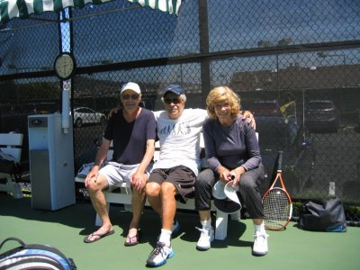 Jerome with two tennis friends