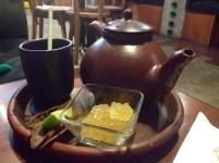 My friend ordered tea