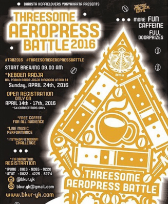 2016 Threesome AeroPress Battle (Jogja)