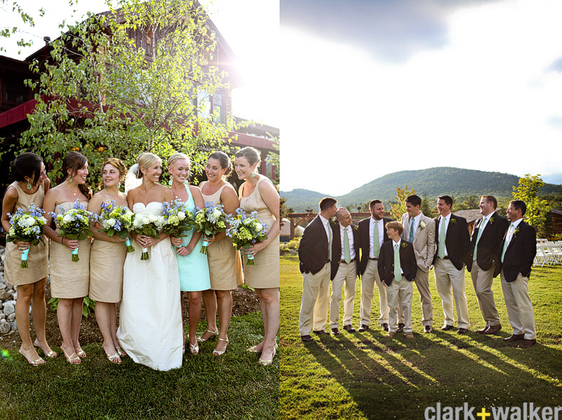 Preppy bridal party