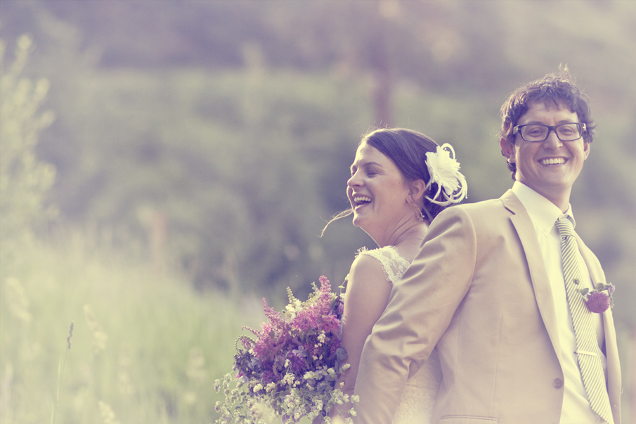 another bride and groom portrait