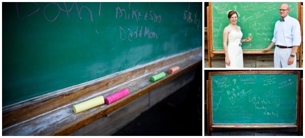 school-style chalkboard guest book
