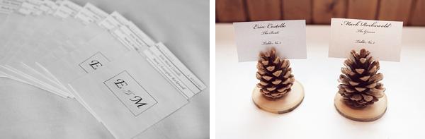 pine cone escort cards