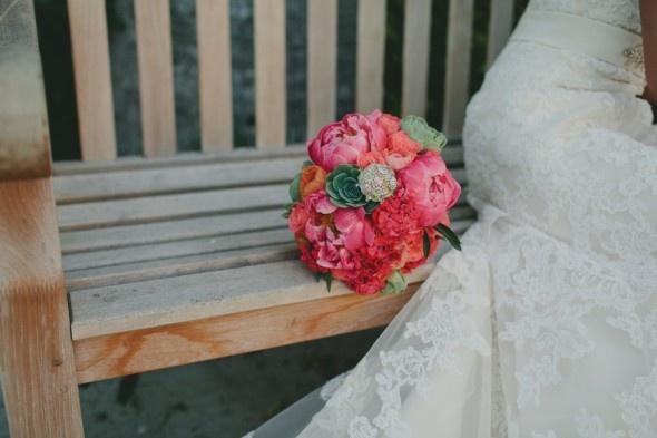 rustic elegant pink rose bouquet