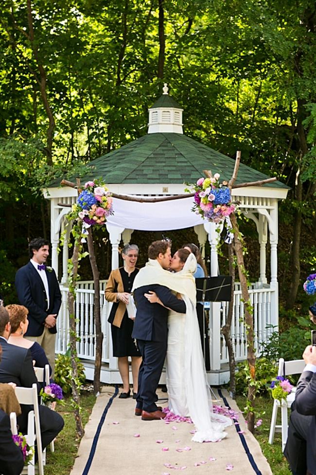 outdoor ceremony   New Hampshire Mountain Wedding