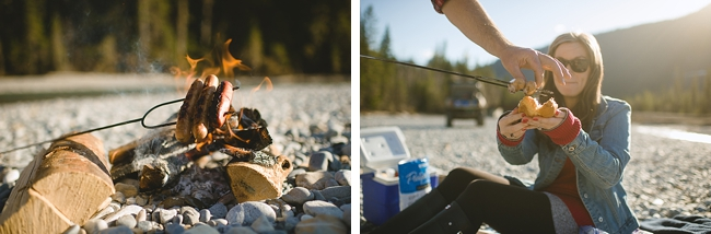 river beach fire British columbia mountain engagement shoot by Nordica Photography