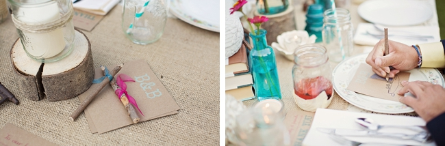 guest pencils rustic chic wedding via http://mountainsidebride.com