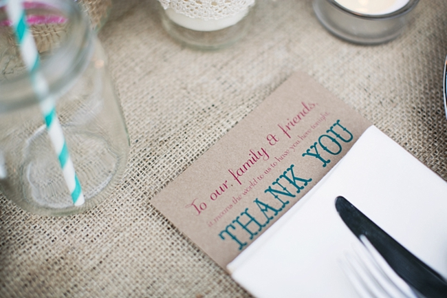 Thank you card rustic chic wedding via http://mountainsidebride.com