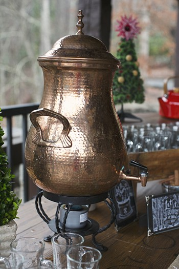 copper hot chocolate kettle
