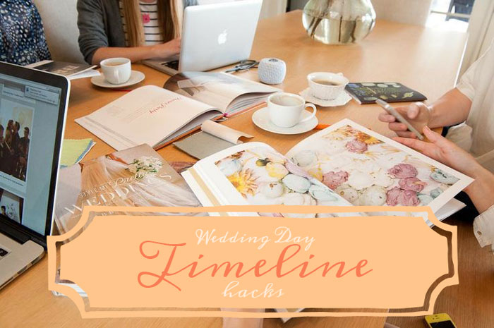 Wedding day timeline hacks