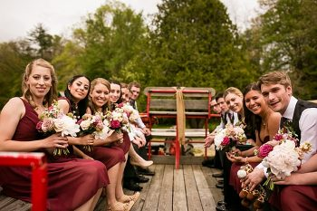 tractor ride western North Carolina handmade wedding by Shutter Love Photography