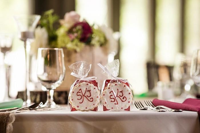 cookie favors western North Carolina handmade wedding by Shutter Love Photography