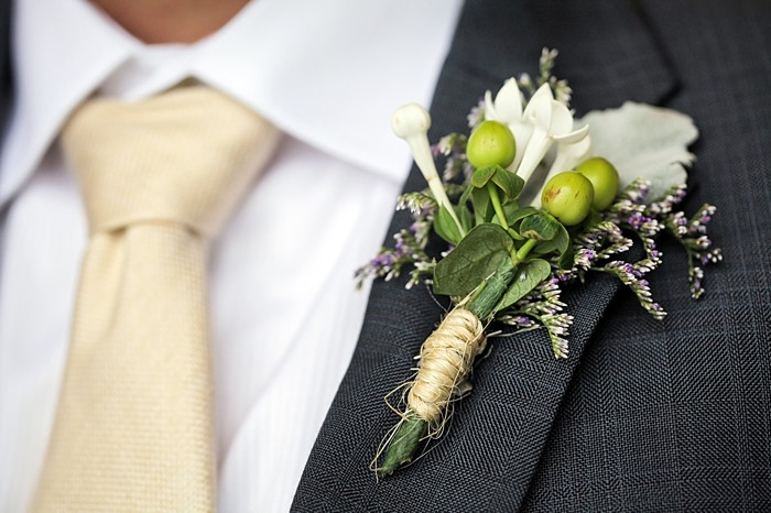 boutonniere  | Snowbird Utah Wedding Logan Walker Photography