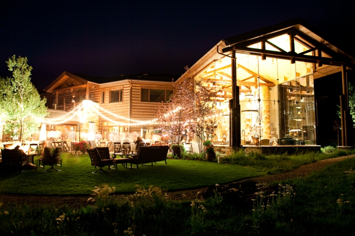 house at night | Park City Luxury Home Wedding