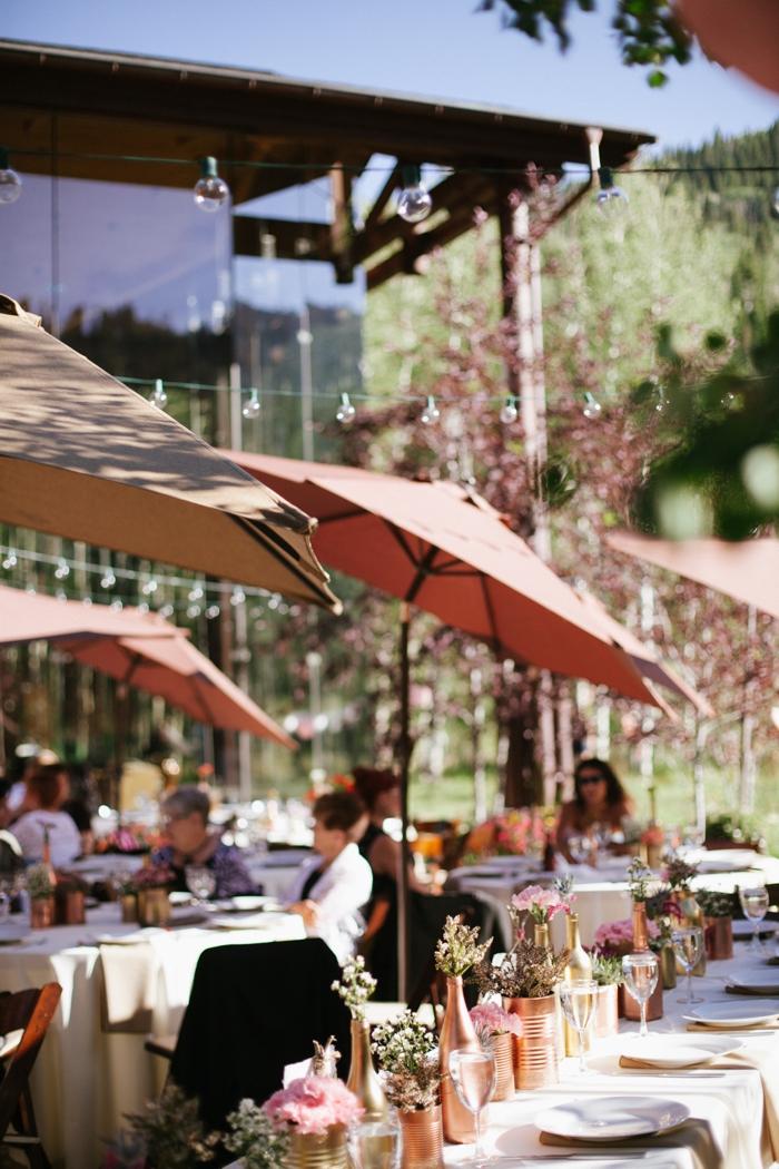 reception tables | Park City Luxury Home Wedding