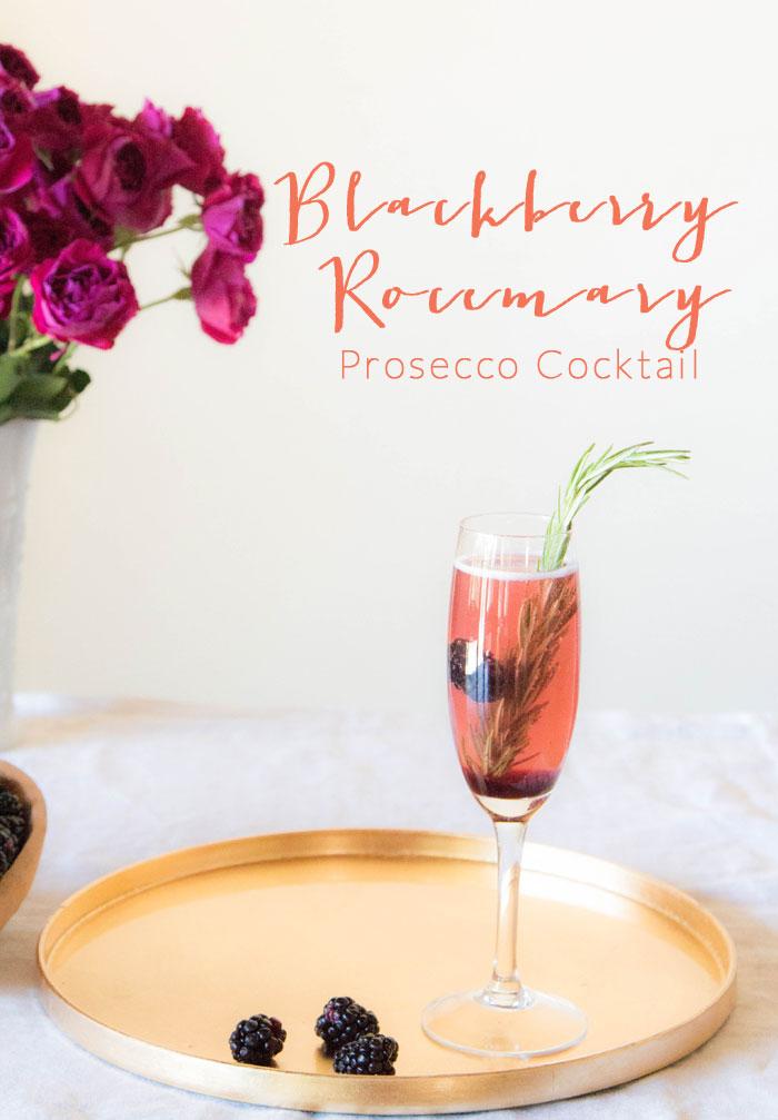 Blackberry Rosemary Prosecco signature drink