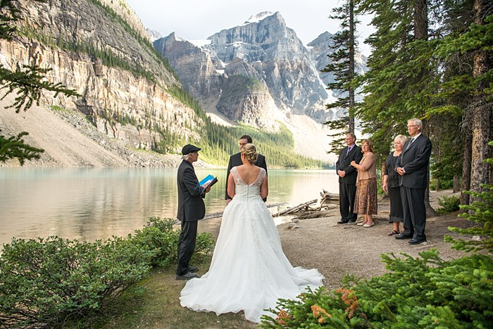 Moraine Lake Elopement | One Edition Photography | Ceremony