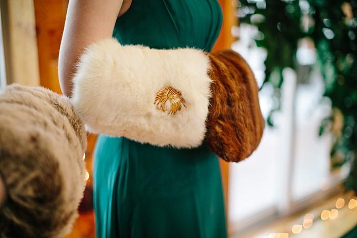 fur hand warmers |Frozen Winter Utah Mountain Wedding | Meg Ruth Photo