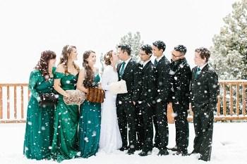 Frozen Winter Utah Mountain Wedding | Meg Ruth Photo