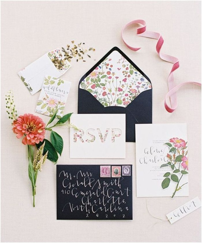 Blush and Navy Wedding Inspiration | via the Bride Link
