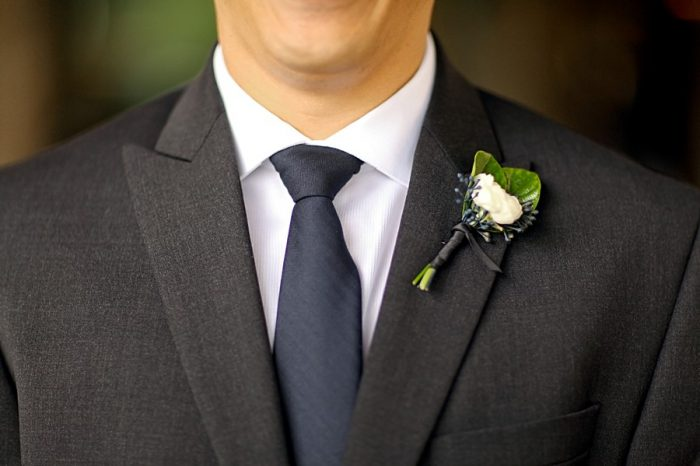 white boutonniere | Park City Utah Wedding | Pepper Nix Photography