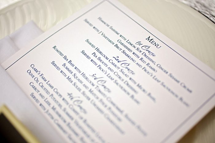 21-navy-and-white-wedding-menu-ideas-Park-City-Utah-Wedding-Pepper-Nix-Photography
