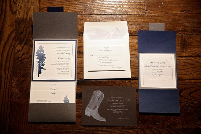 cowboy wedding stationery ideas | Park City Utah Wedding | Pepper Nix Photography