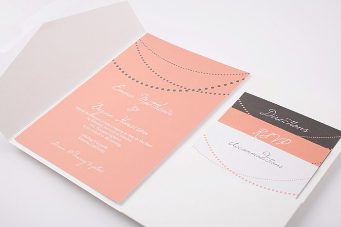 Basic Invite Charming Peach Wedding Invitation Inspiration