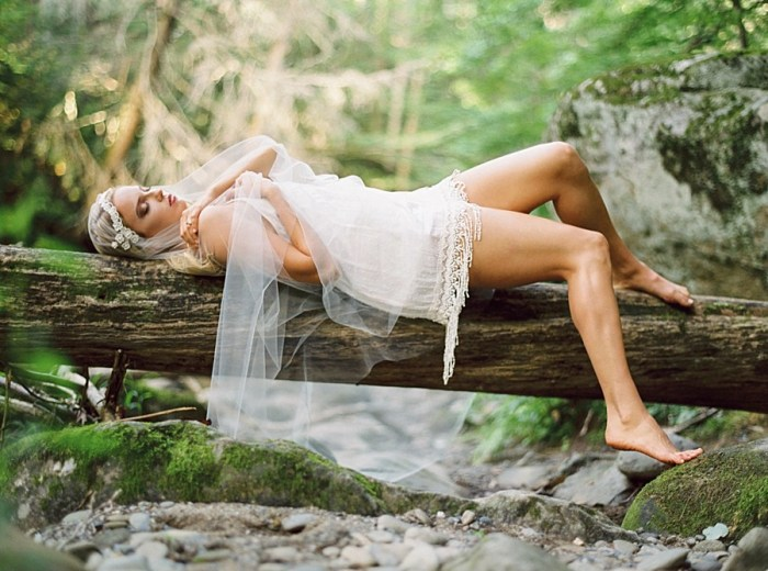 Enchanting Woodland Boudoir Session in the Smoky Mountains
