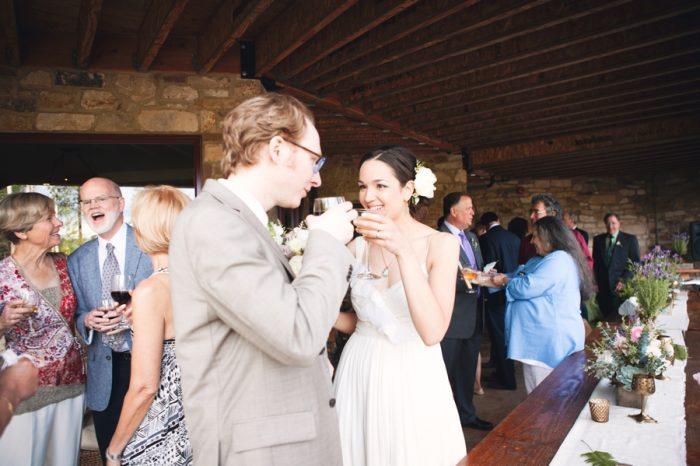 24 Reception Toast Sandpoint Idaho Mountain Wedding Amy Galbraith Photography   Via MountainsideBride.com
