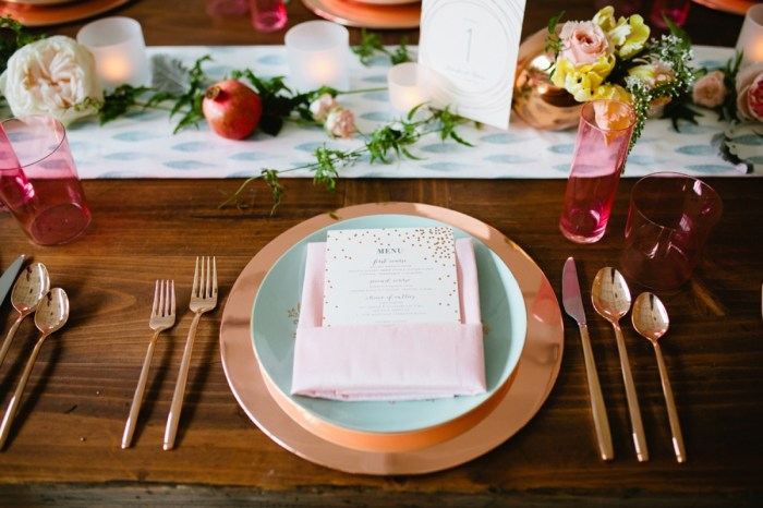 Mint and Rose Gold Wedding Inspiration with Rustic Details Sponsored by Minted