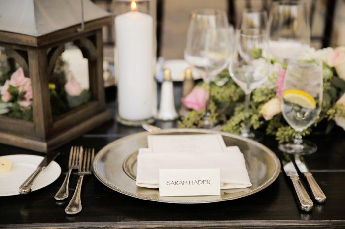 Place Setting | Elegant Park City Wedding St Regis Logan Walker Photography | Via MountainsideBride.com