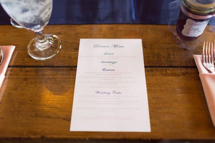 22 Menu | Keystone Colorado Wedding Mathew Irving Photography | Via MountainsideBride.com