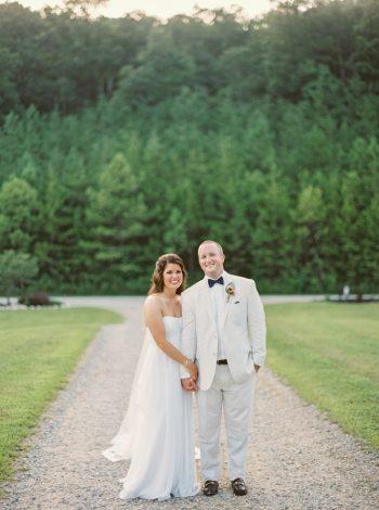 Couple Portraits Butterfly Gap Wedding Maryville Tennessee JoPhoto | Via MountainsideBride.com