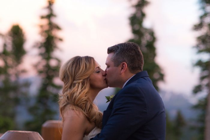 34 Kiss | Keystone Colorado Wedding Mathew Irving Photography | Via MountainsideBride.com