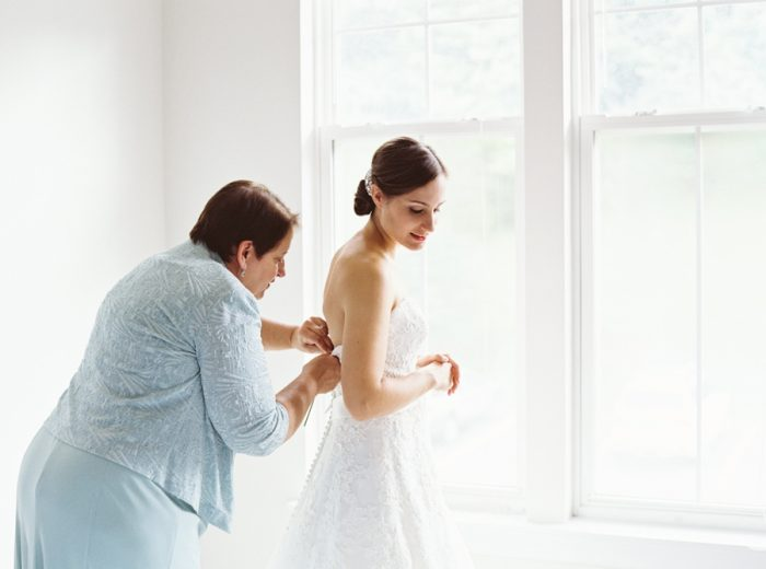 Bride Getting Ready With Mother | Mountain Wedding In Barboursville Virginia By JoPhoto | Via MountainsideBride.com