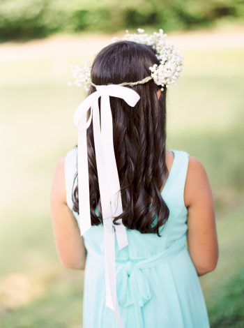 Flower Girl Butterfly Gap Wedding Maryville Tennessee JoPhoto | Via MountainsideBride.com