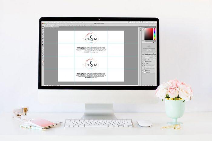 Step 1 Design Easy DIY Printable Wedding Menu Belly Bands Epson