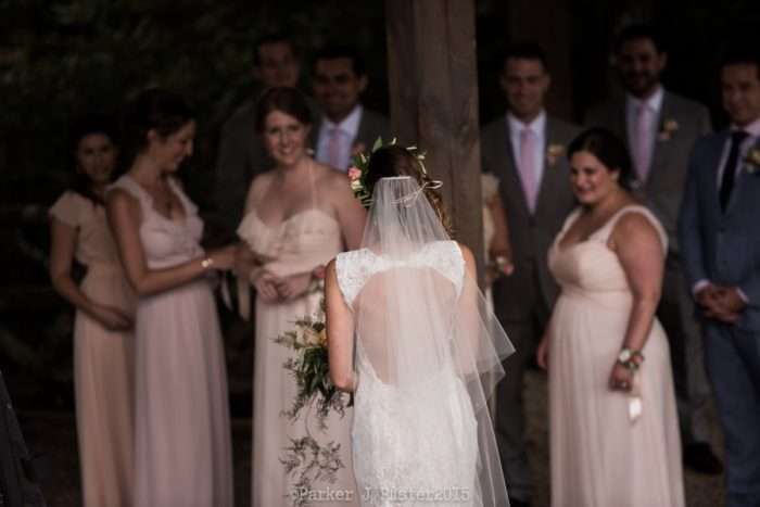 Bride With Bridesmaids NC Wedding | Parker J Pfister |via Mountainside Bride