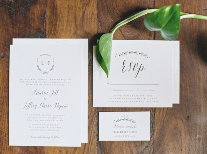 Rustic wedding stationery | Knoxville Wedding Hunter Valley Farm | JoPhoto | Via MountainsideBride.com