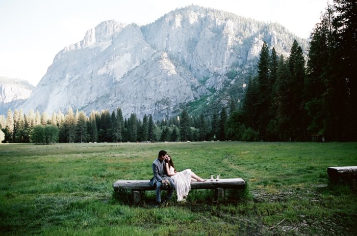 Beautiful + Carefree Wedding Portraits in Yosemite National Park