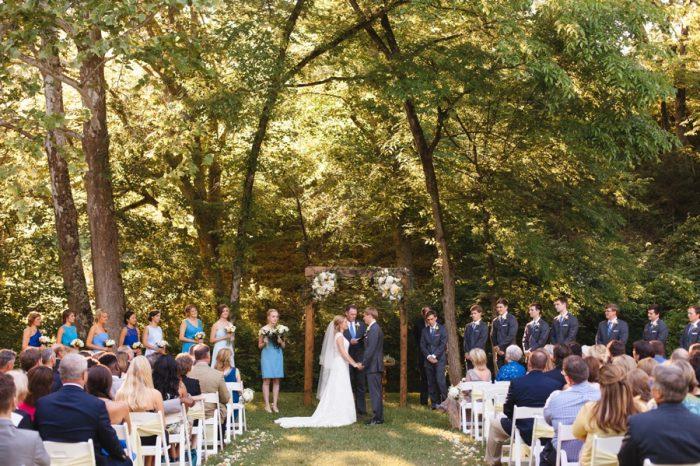 19 Ceremony Daras Garden Tennessee Wedding Jophoto Via Mountainsidebride Com