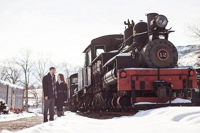 5 Train Engagement | Bergreen Photography | Via MountainsideBride.com