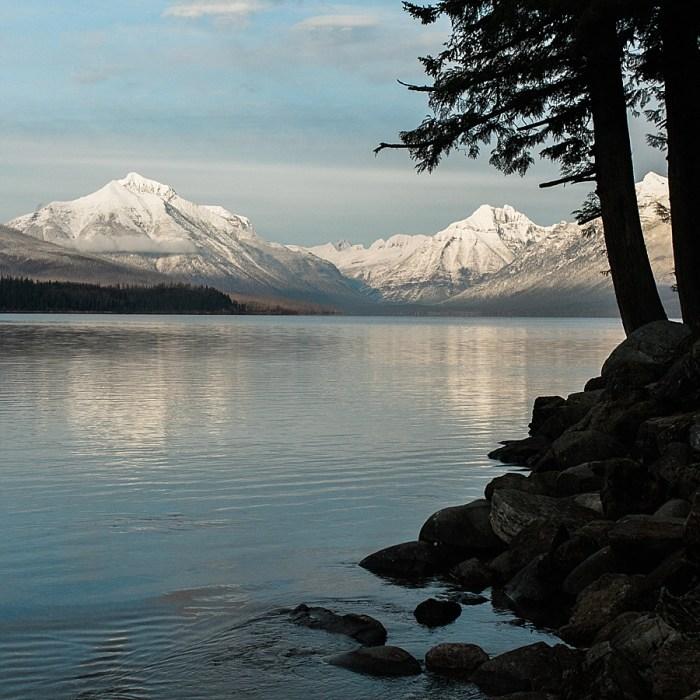 1 Glacier National Park Engagement | Joni Bilderback Photography | Via MountainsideBride.com