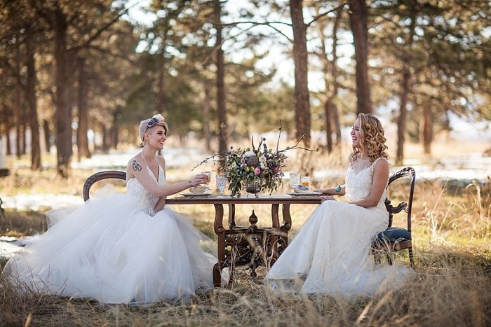 9 Colorado Same Sex Boho Wedding Inspiration | Katie Keighin Photography |via MountainsideBride.com