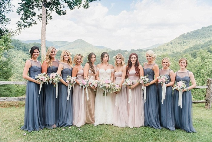 22 Bridesmaids 2 Sunshower Photography Via MountainsideBride.com