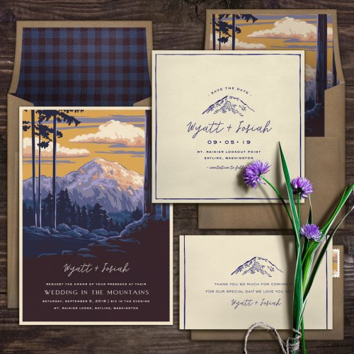 National Park Inspired Eco-Friendly Wedding Invitations