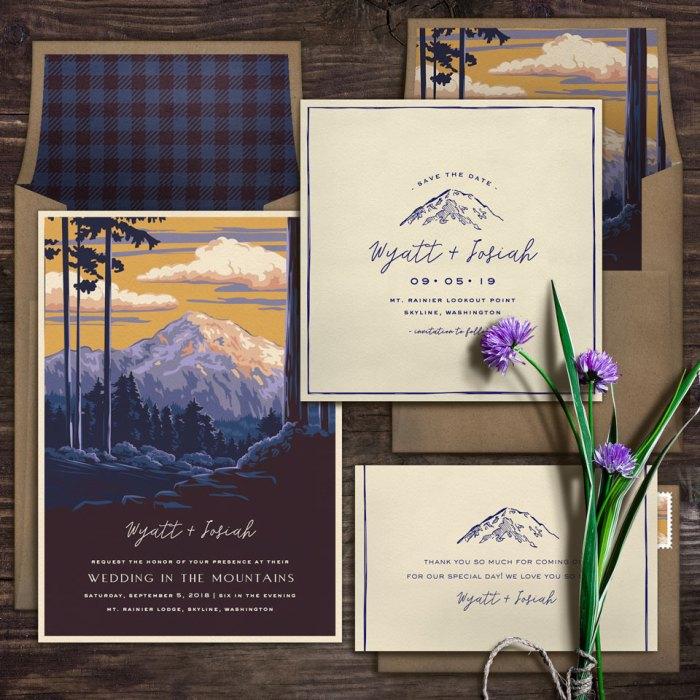 National Park Inspired Eco-Friendly Wedding Invitations